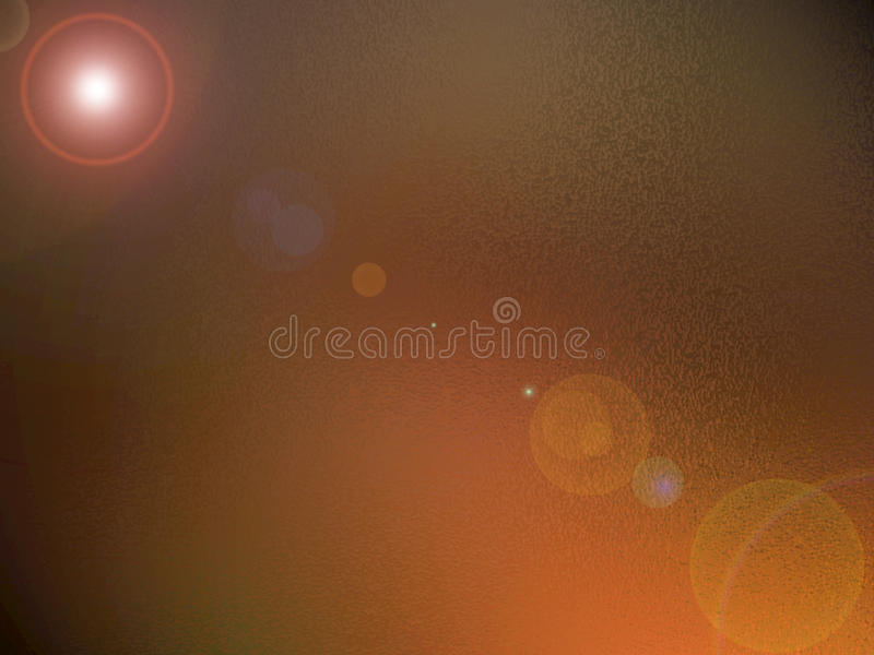 Bronze background with lens flare stock images