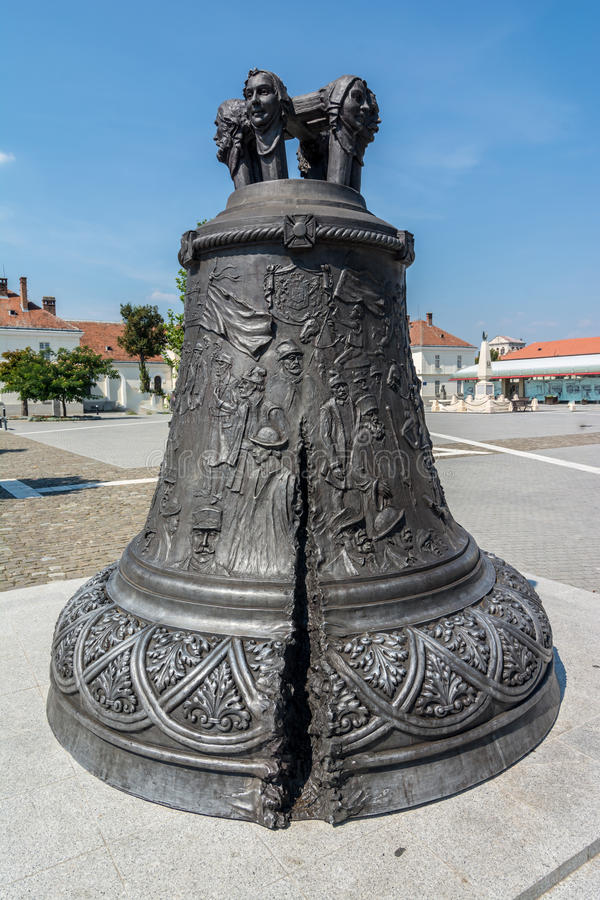 The, Bronze, Bell, -, Alba, Iulia. Bronze Bell signifying the Great Union from 1918 in Alba Iulia city-Romania royalty free stock photography