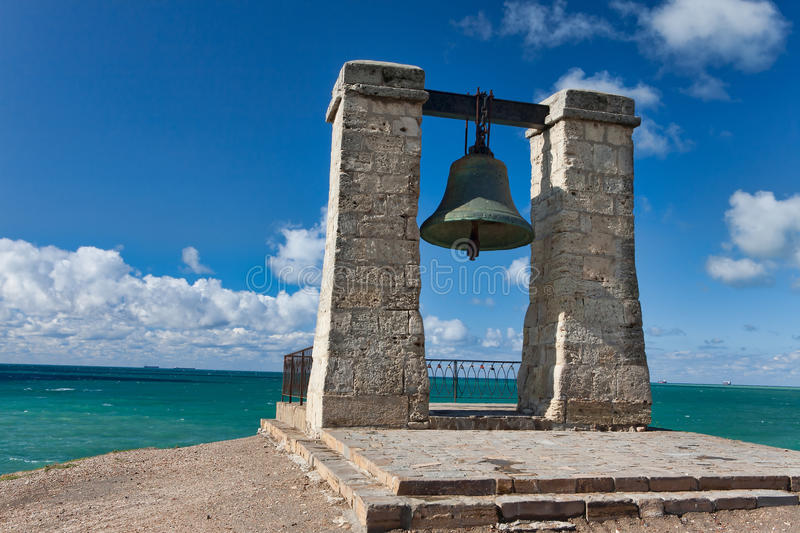Bronze bell of destiny stock photography