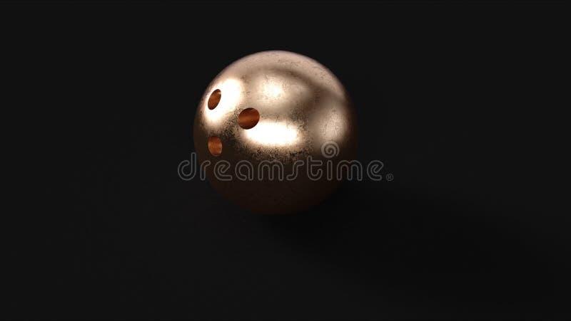 Bronze Brass Bowling Balls royalty free illustration