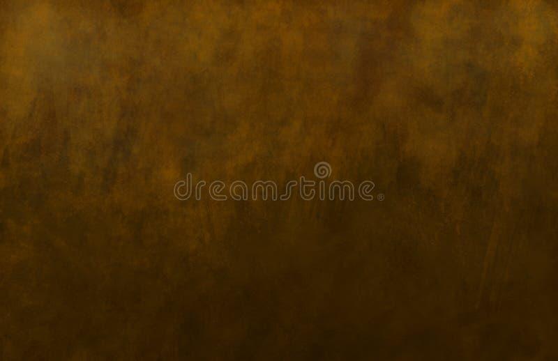 bronze brun målad textur royaltyfri illustrationer