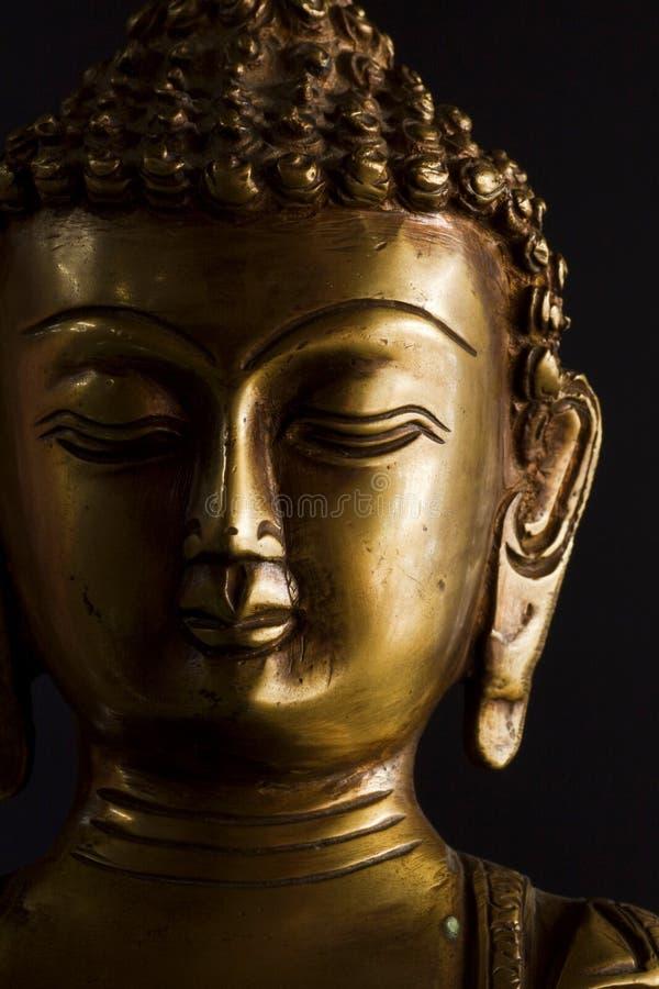 bronze buddha staty royaltyfri fotografi