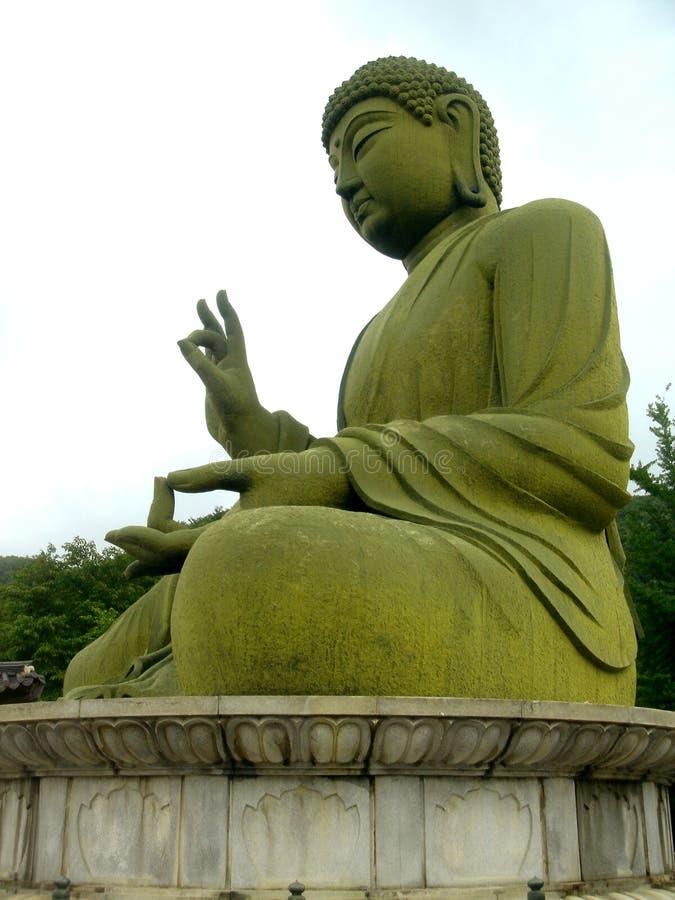 bronze buddha staty arkivfoto