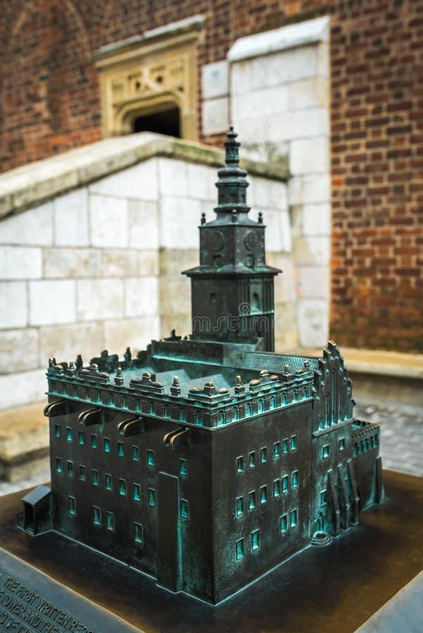 Bronze cast miniature of Krakow in Poland royalty free stock photos