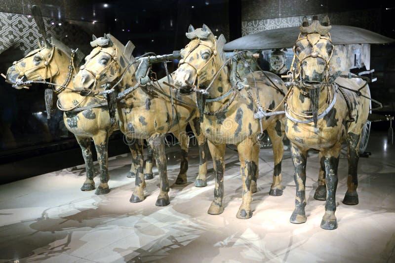 Bronze chariot stock image