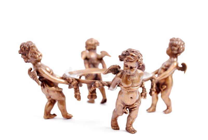 bronze cherubs 1 royaltyfri bild