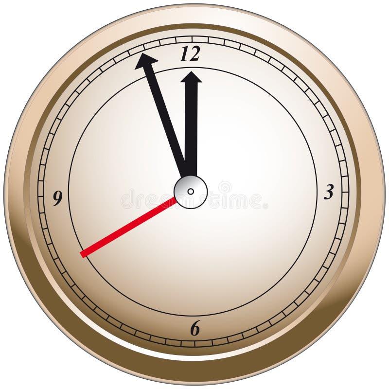 Download Bronze Clock stock illustration. Image of hand, modern - 28897613