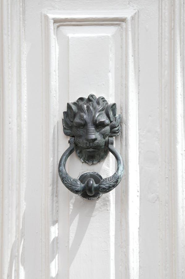 bronze dörrknackarelion arkivbild