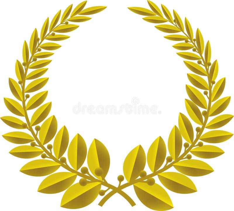 Bronze da grinalda do louro (vetor) ilustração stock
