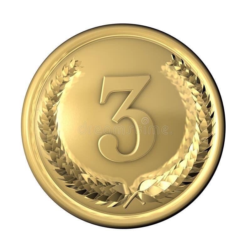 Bronze da medalha ilustração royalty free