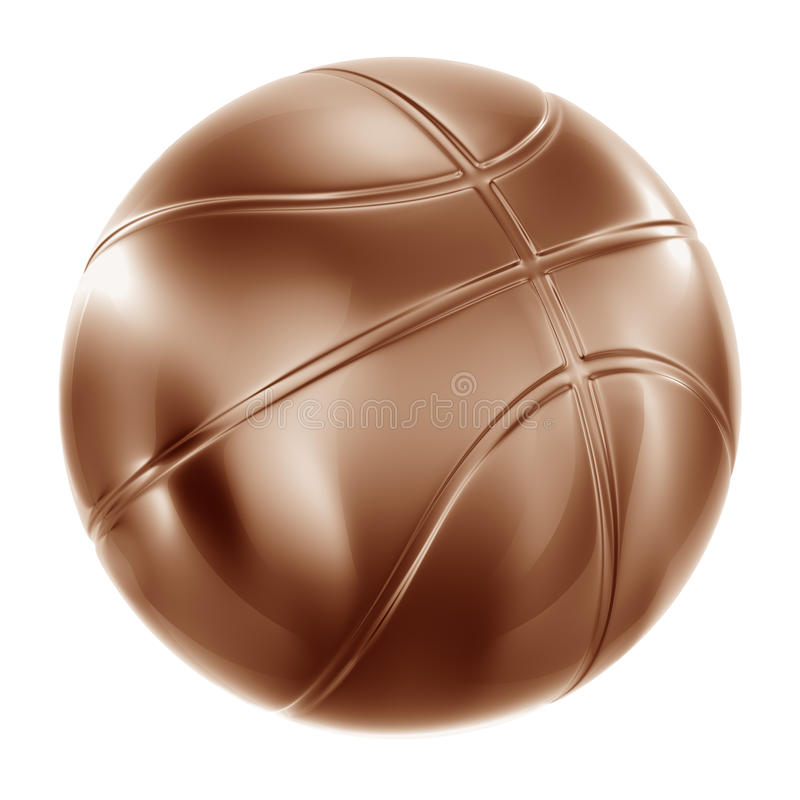 bronze de basket-ball illustration de vecteur