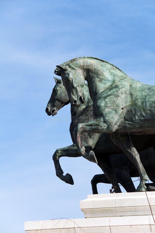 bronze detaljhästar arkivfoton