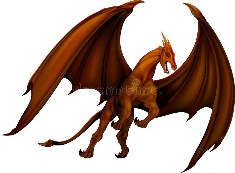 Bronze do dragão ilustração do vetor