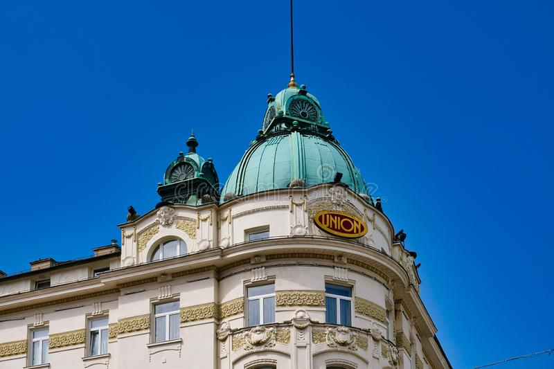 Grand Hotel Union Building, Ljubljana, Slovenia royalty free stock images