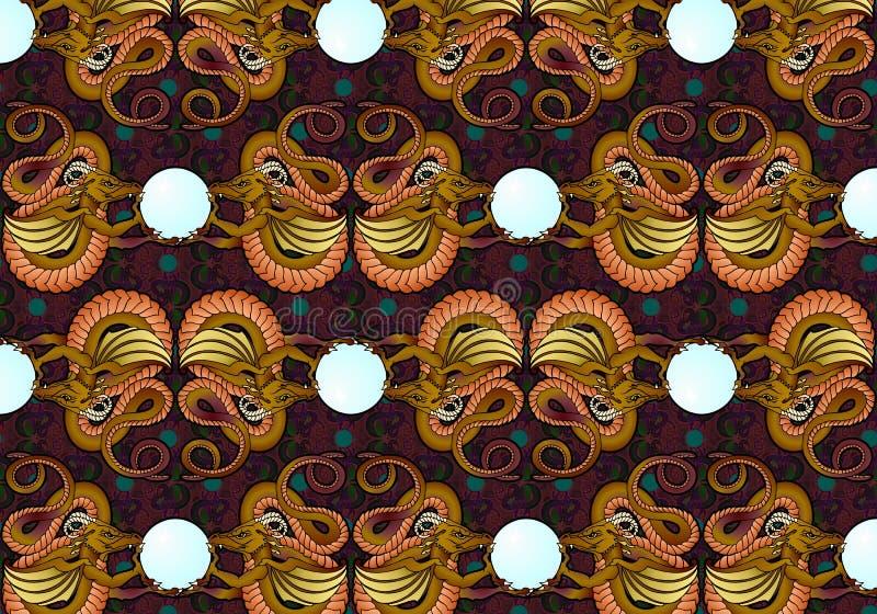 Download Bronze Dragons Wallpaper stock illustration. Illustration of imagination - 31883959
