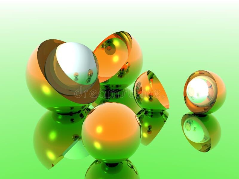 Bronze Eggs Baclground stockbild