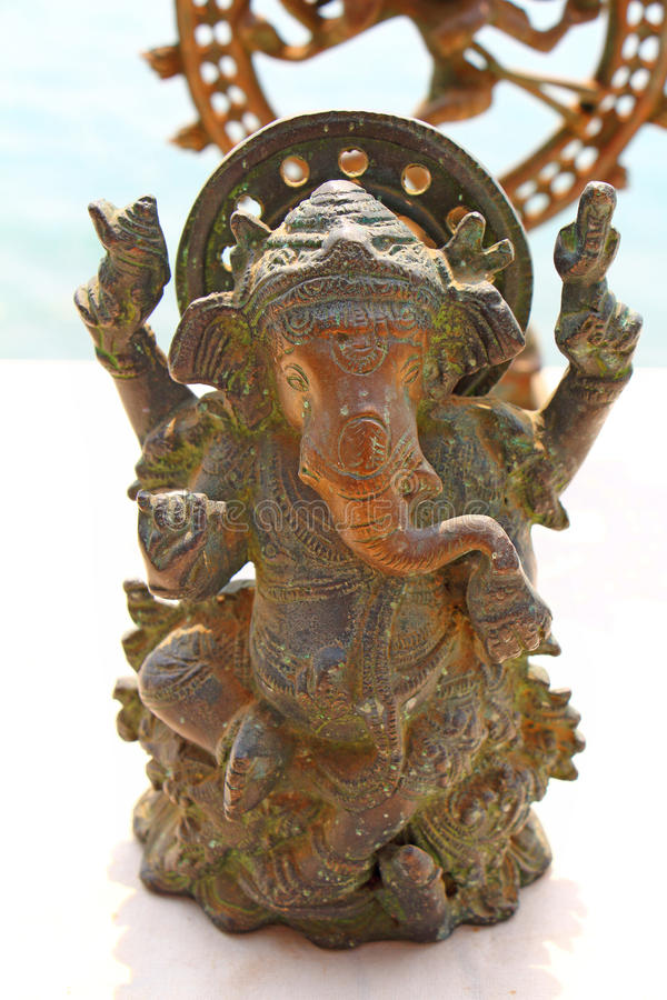 Bronze Figurine Of An Elephant Souvenir India Stock Photo Image