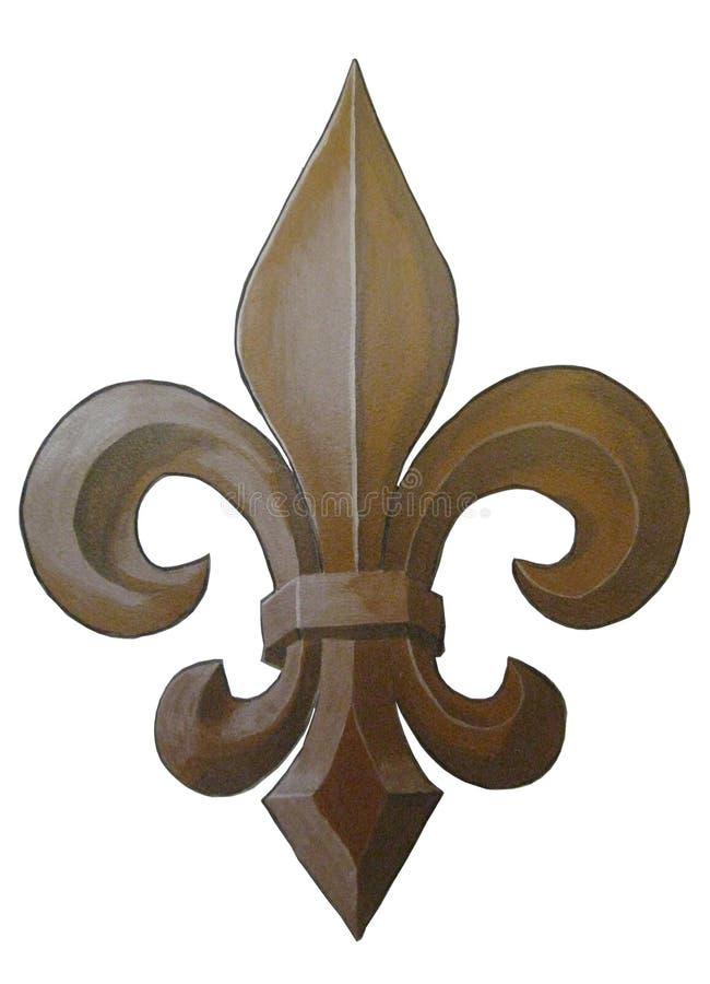 Bronze Fleur de Lis Painting royalty free stock image