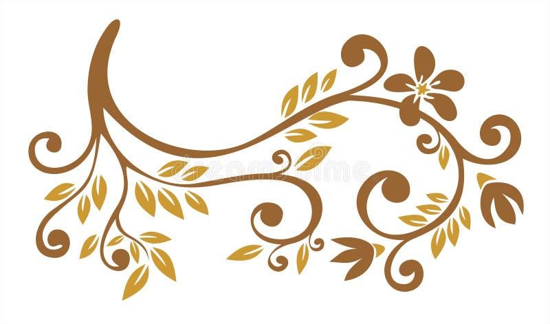 Bronze floral pattern vector illustration