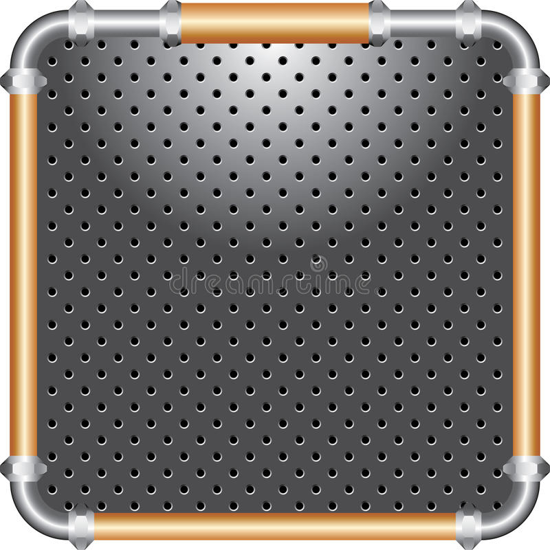 Bronze frame perforated