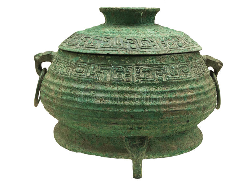 Bronze - GUI jie. Ancient Chinese bronze ware production elegant, artistic value is the highest in the world bronze ware, its peculiar modelling, decorative royalty free stock photos