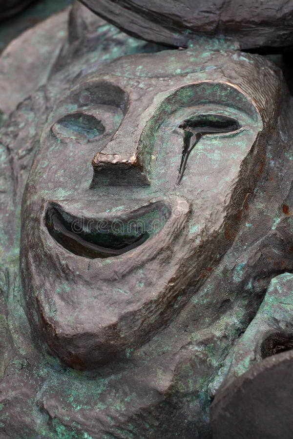 Bronze Happy Theatre Mask Crying royalty free stock photography