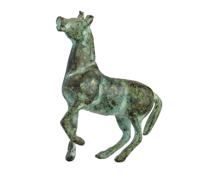 Bronze horse stock photo
