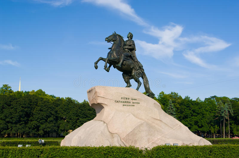Download The Bronze Horseman Stock Image - Image: 22912741