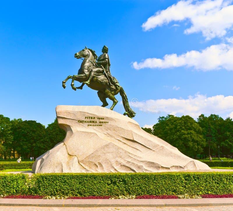 Download The Bronze Horseman stock image. Image of pedestal, cloud - 29145753