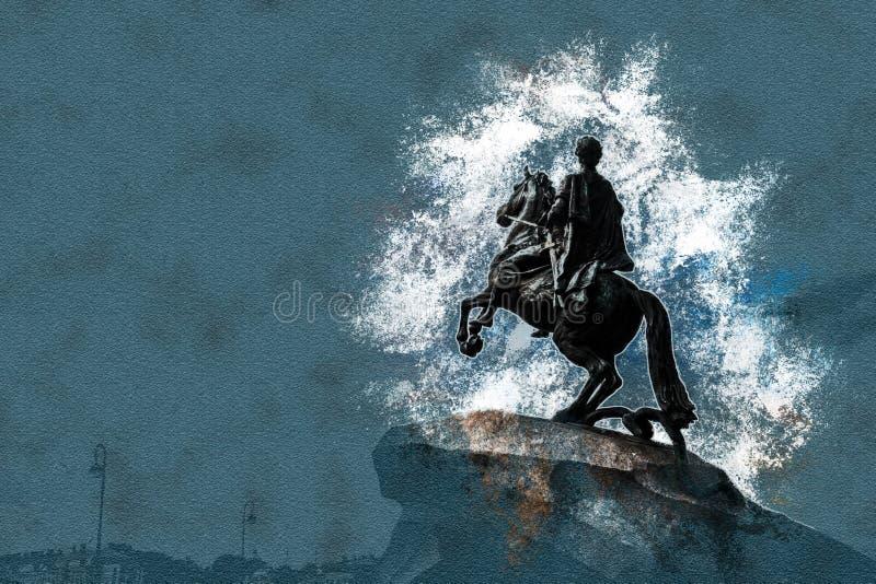 The Bronze Horseman vector illustration