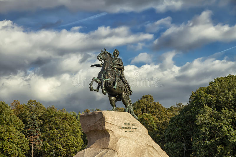 Bronze Horseman, St. Petersburg , Russia. Peter the Great monument, the Bronze Horseman, St. Petersburg Russia royalty free stock images