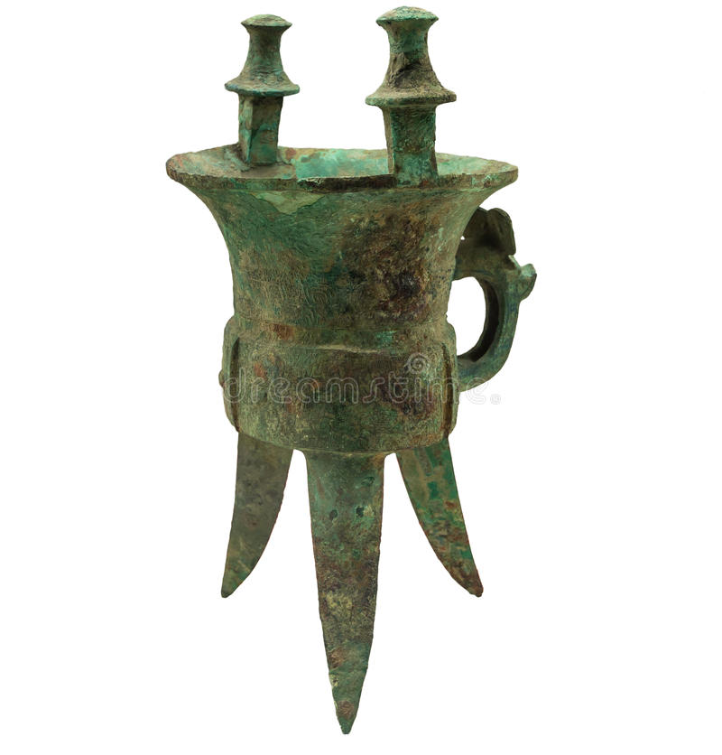 Bronze - Jia. Ancient Chinese bronze ware production elegant, artistic value is the highest in the world bronze ware, its peculiar modelling, decorative beauty royalty free stock image