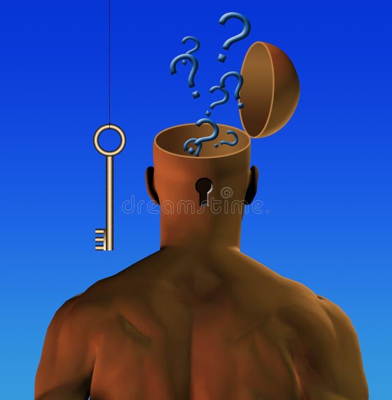 Key to mind royalty free illustration