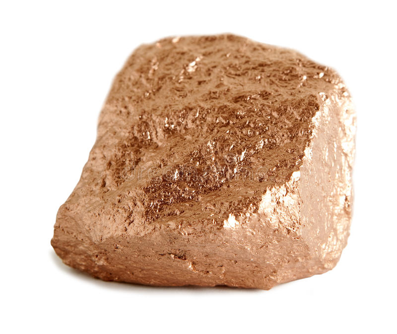 bronze klump arkivbild