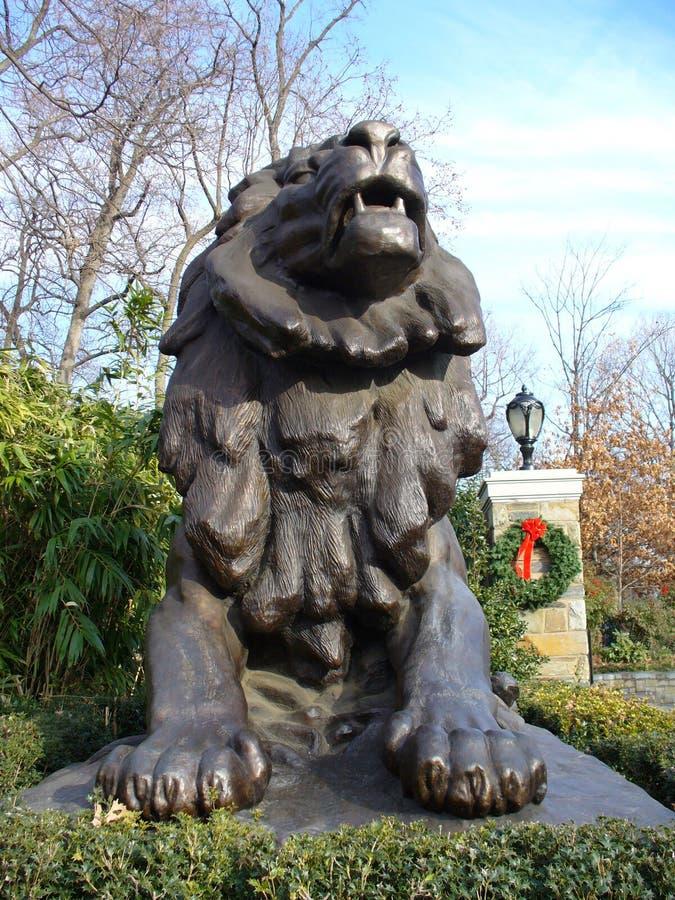 Bronze Lion royalty free stock photo