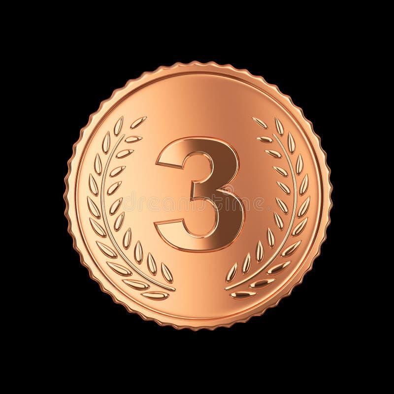 Download Bronze medal stock illustration. Image of metal, medal - 32616951