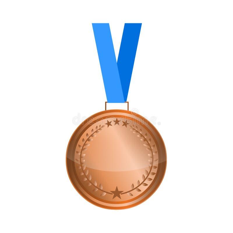 Bronze medal vector stock image. Award medal vector. Bronze medal vector stock image isolated on white background.Award medal illustration vector illustration