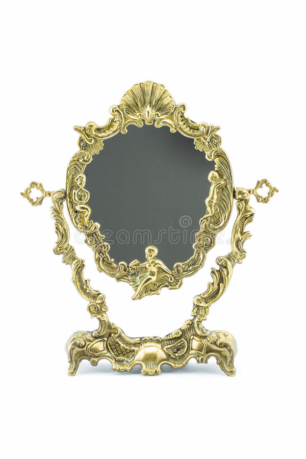 Bronze mirror frame stock photos