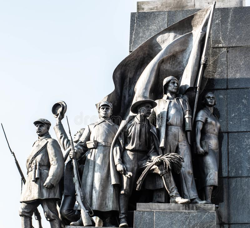 Bronze monument, characters of the work of Taras Shevchenko from the history of Ukraine. Bronze monument, characters of the work of Taras Shevchenko from the stock photography