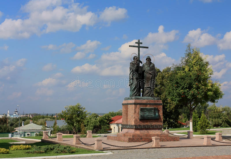 Download Bronze Monument To Cyril And Methodius Stock Photo - Image: 33172140