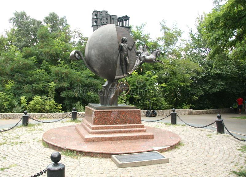 Bronze monument to Orange in Odessa, Ukraine royalty free stock photo