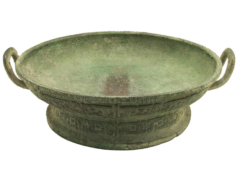 Bronze - morning set. Make beautiful Chinese bronze ware, bronze ware in all over the world is the highest art value, its peculiar modelling, decorative beauty royalty free stock photography
