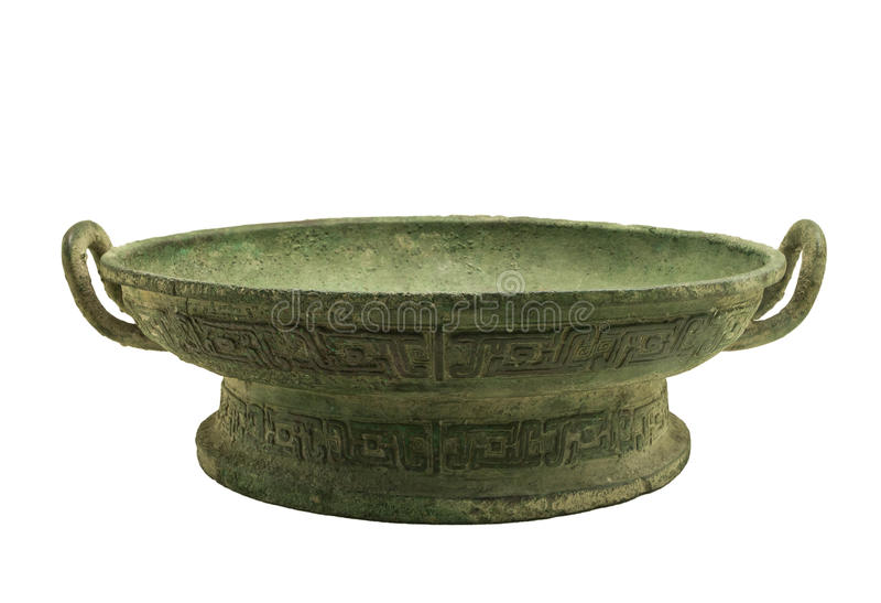 Bronze - morning set. Make beautiful Chinese bronze ware, bronze ware in all over the world is the highest art value, its peculiar modelling, decorative beauty stock image