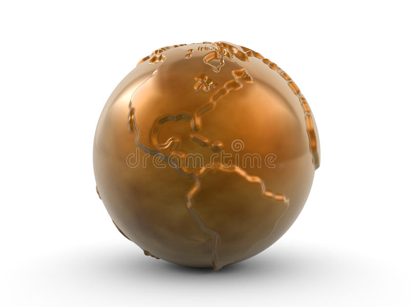 Download Bronze paperweight stock illustration. Image of globe - 10365553