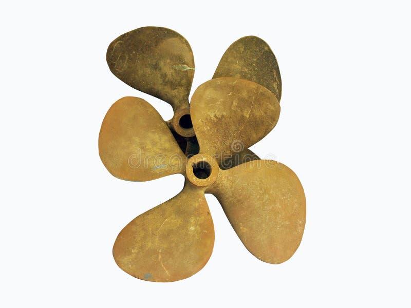 bronze propeller arkivbilder