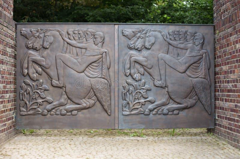 Bronze relief royalty free stock image
