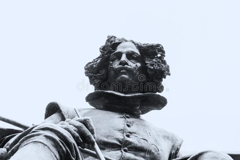 Bronze statue of Diego Velazquez painter stock images