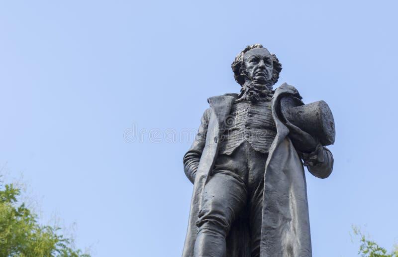Bronze statue of Francisco de Goya stock image
