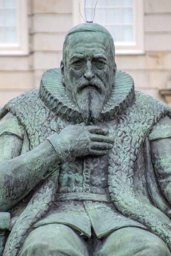 Bronze Statue Of Johan Van Oldenbarnevelt At Den Haag City The Netherlands 2018 stock photo