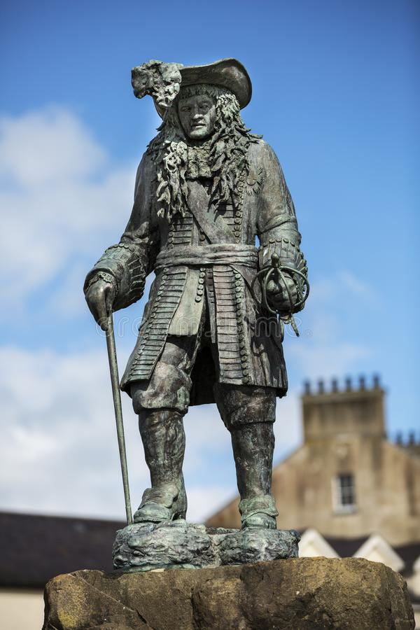 Bronze statue of king william of orange royalty free stock photography